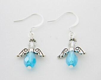 CHRISTMAS JEWELRY  CH002 Blue Angel Earrings