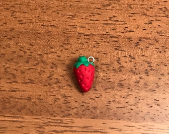 Strawberry polymer clay charm! See description for more details!
