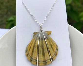 """18"""" sterling silver sunrise shell necklace"""