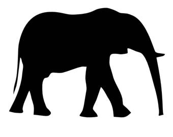 Pack of 3 Elephant Stencils Made from 4 Ply Mat Board, 11x14, 8x10 and 5x7 -Package includes One of Each Size