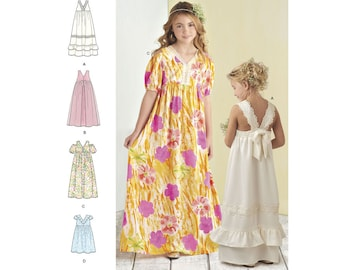 Simplicity Sewing Pattern 8352 Child's and Girls' Dress with Bodice and Skirt Variations