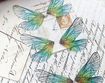 NEW Set of three Purple rainbow faerie wings