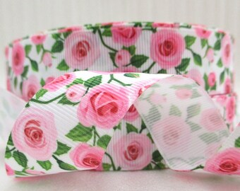 "1"" Grosgrain Rose Ribbon"