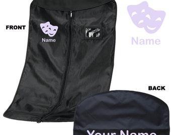 Personalised Monogram/Name Theatre /Dance /Costume Garment - Personalised Garment Bag. Personalized Stage School / Drama / Musical Theatre