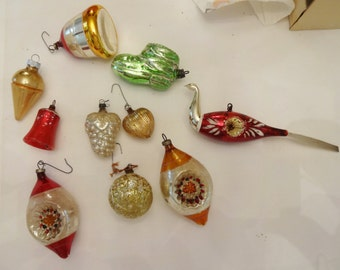 Christmas Ornaments vintage and antique