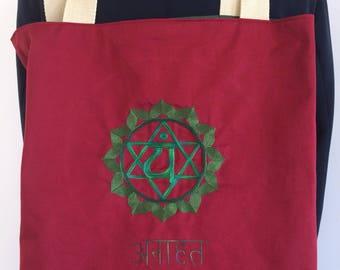 Tote bag Anahata chakra