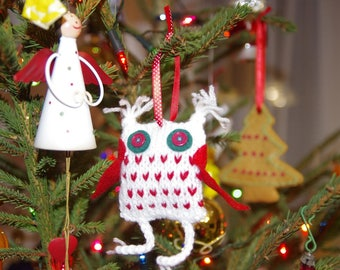 Christmas tree Owl decoration - set of 3 owls -  Nordic decor - Owl - Snowy Owl - Stuffed Owl - Christmas holiday decoration
