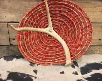 "Handmade Antler Basket - ""Sunshine"""