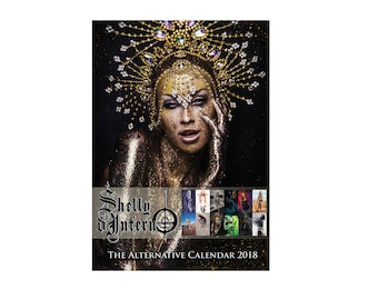 The Alternative Calendar, A3 Shelly d'Inferno 2018 wall diary, high quality silk poster collection