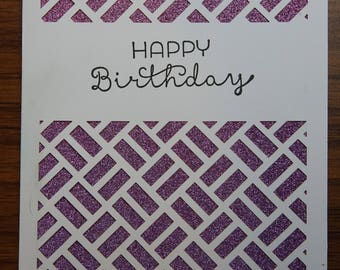 Glitter Happy Birthday Card