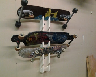 5 Skateboard Rack, Display, Storage, Wall Mount