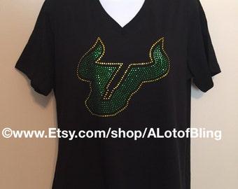 University of South Florida Rhinestone T-Shirt