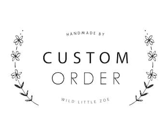 Custom flower crown, custom flower headband, flower clip