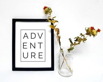 Adventure Typographic Printable