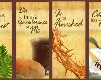Easter Set A  / Set of 4 Banners (G1215)