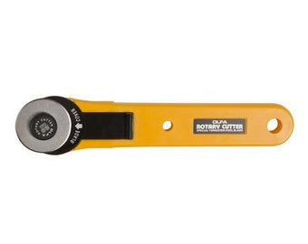 Olfa Rotary Cutter 28mm # RTY1 - Yellow - Thumb Lock Locking Device - English paper Piecing