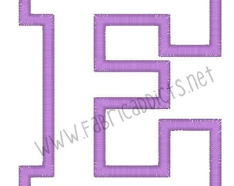 Applique letter E fits 4x4 Hoop for Embroidery Machine - Automatic Download Multiple Formats