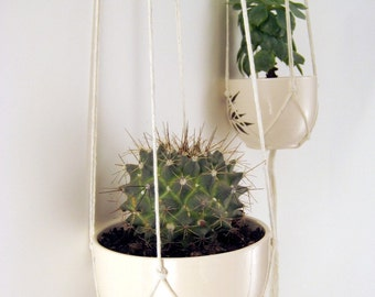 Minimalist Plant Hanger, No Beads, 1 x Cotton Twine, 36 inches/91cm's