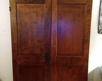 Vintage wood swinging parlor doors. Hardware included. : parlor doors - pezcame.com