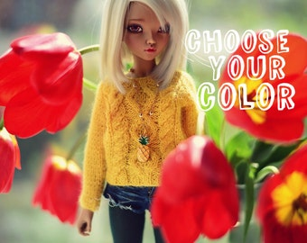 Knitted sweater for MSD bjd doll