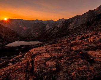 Sierran Sunset Print