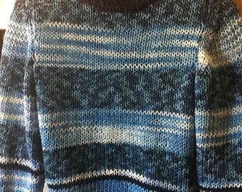 Maglione uomo di cotone a righe