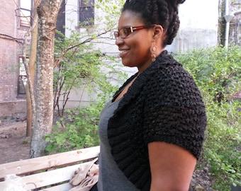 Textured Shrug/Short Sweater