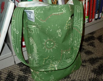 Child's Tote Bag - Green Chalkboard (#250)