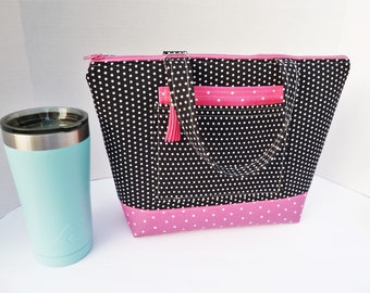 Lunch Bag Large / With Front Pocket / Lunch Bag Insulated / Tote For Women / Lunch Bag For Women /