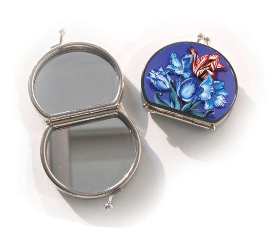 retro mirror,Porcelain,birthday gift,gifts for her,gifts for mom,Woody Ellen handbag,christmas gifts,christmas gift ideas,new years gifts