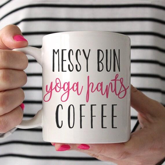 Messy Bun Yoga Pants Coffee Mug