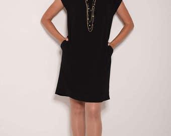 Black dress, short dress, loose dresses, party dresses for women, midi dress, womens dresses,summer dresses, dress with pockets, work dress