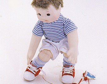 Danny & Billie Easy to  sew cloth doll pattern from Carolee Creations.SewSweet Dolls