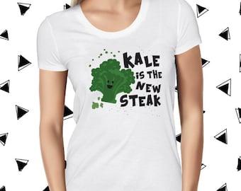 Kale Shirt - Funny Vegan Shirt - Funny Vegan Tee - Womens Vegan Clothing - Cute Plant-Based Shirt