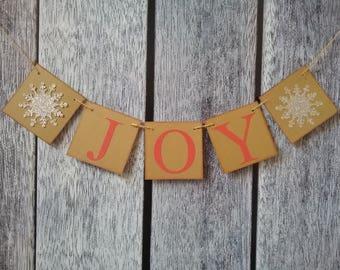 christmas banner, joy banner, christmas decorations, christmas photo prop, holiday decorations, christmas joy sign, holiday banner