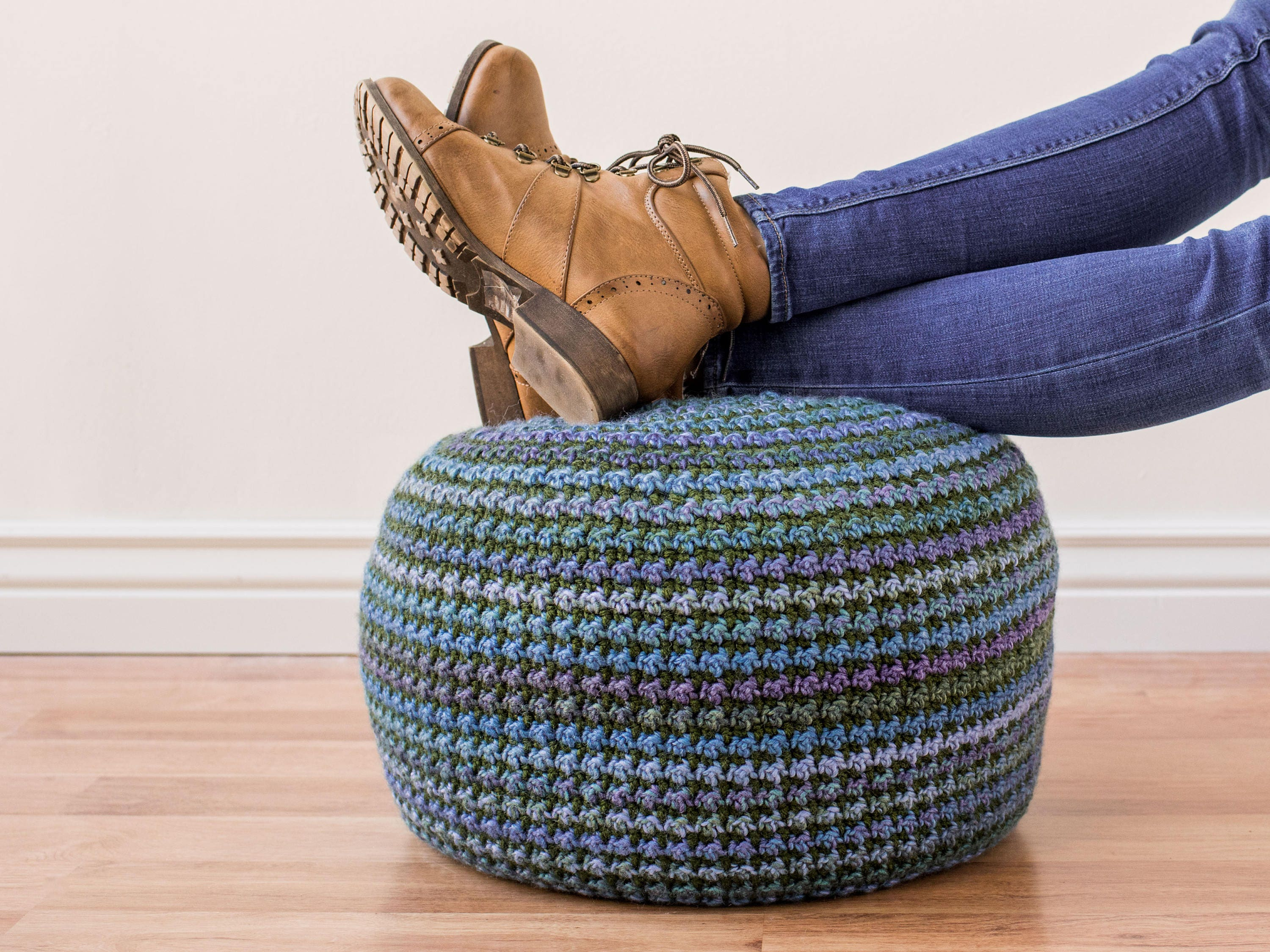 Crochet Pouf Pattern Pillow