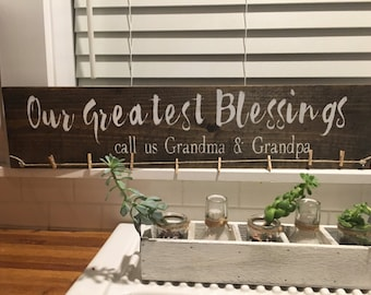 our greatest blessings | rustic gift| Mom and dad gift| personalized gift| personalized frame| grandparent gift | grandkids photo display