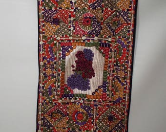 Indian Embroidered wall hanging.