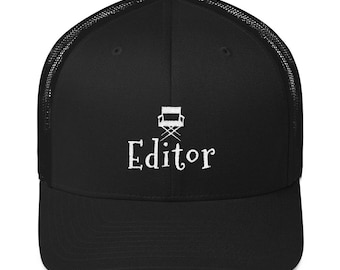 Film Editor Trucker Cap Gift for Movie Lovers and Film Buffs