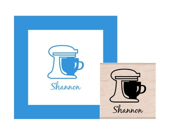 Stand Mixer personalized Rubber Stamp