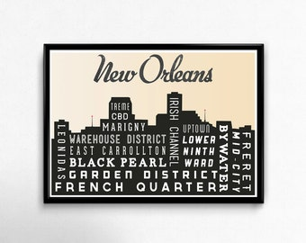 New orleans map gift Etsy