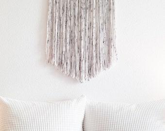 macrame wall hanging, wool wall hanging, modern macrame, merino wool, tapestry, fiber art