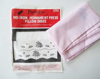 DIY You Cross Stitch New No-Iron Pink Pillow Cases Kit