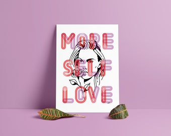 Love yourself (self love) Illustration Poster