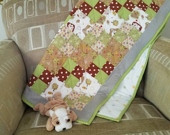Snips and Snails and Puppy Dog Tails Baby Boy Crib Quilt