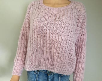 """Candy"" alpaca and silk slouchy sweater"