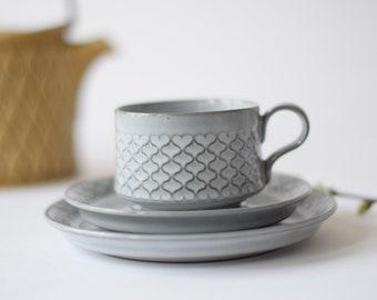 ON HOLD! Quistgaard - CORDIAL - Tea / Coffee Trio - cup / saucer / teaplate - Bing & Grøndahl / Nissen - Danish mid century tableware