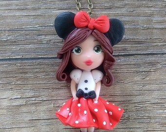 Chibi Disney - Minnie Lady necklace