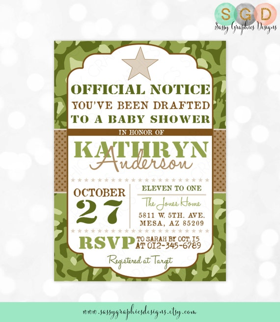 Camo boy baby shower invite military baby shower invitation like this item filmwisefo Gallery