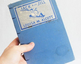 Old Book Journal / Recycled Vintage Book / Upcycled Journal / Jack and Jill Rebound Journal by PrairiePeasant